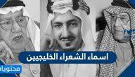 اسماء الشعراء الخليجيين