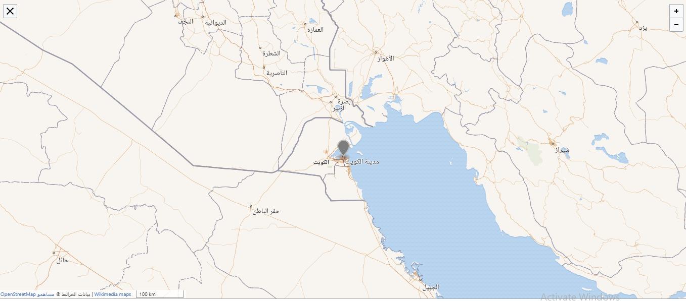 خريطة الكويت العاصمة