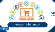 تخصص تجارة الكترونية .. مواد التخصص ومجالات العمل