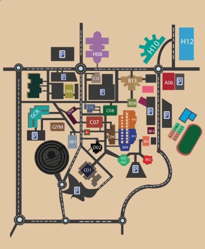 خريطة الحرم الجامعي لجامعة قطر