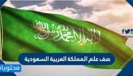 صف علم المملكة العربية السعودية .. دلالة علم السعودية