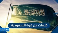 كلمات عن قوة السعودية .. أجمل كلمات الفخر والاعتزاز بالوطن