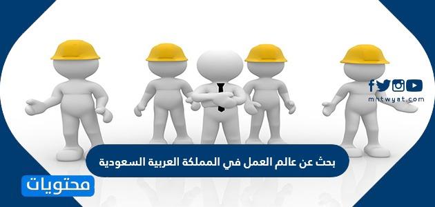 بحث عن عالم العمل في المملكة العربية السعودية موقع محتويات