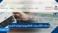 خدمات التأشيرات الالكترونية لوزارة الخارجية