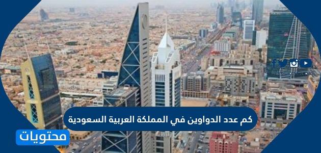 كم عدد الدواوين في المملكة العربية السعودية