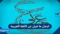 أجمل ما قيل عن اللغة العربية … قصائد عن اللغة العربية