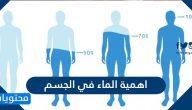 أهمية الماء في جسم الانسان