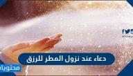 دعاء عند نزول المطر للرزق .. ادعية المطر والرعد والبرق والريح