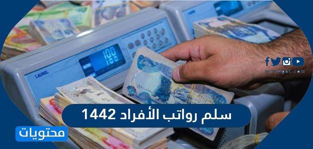 سلم رواتب الأفراد 1442 .. موعد العلاوة السنوية للأفراد العسكريين 1442