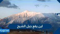 أين يقع جبل الشيخ