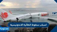 اسباب سقوط الطائرة الاندونيسية وما هي التفاصيل الدقيقة عن الحادث