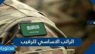 كم الراتب الاساسي للرقيب ولمختلف فئات الخدمة العسكرية في السعودية