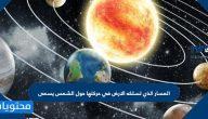 المسار الذي تسلكه الارض في حركتها حول الشمس يسمى