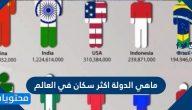 ماهي الدولة اكثر سكان في العالم