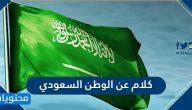 كلام عن الوطن السعودي جميل وقصير