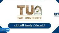 تخصصات جامعة الطائف وشروط القبول 1443