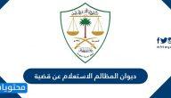 ديوان المظالم الاستعلام عن قضية بالتفصيل عبر البوابة الإلكترونية
