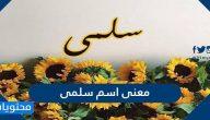 معنى اسم سلمى وصفات حاملته وحكم تسميته في الإسلام