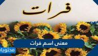 معنى اسم فرات وصفات حاملة الاسم وحكم تسميته في الاسلام