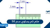 50 ملم كم يساوي سم