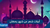 أبيات شعر عن شهر رمضان