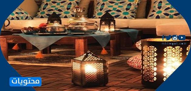 ديكور رمضاني للبيت في غرفة المعيشة