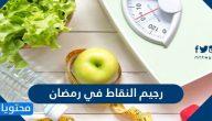 رجيم النقاط في رمضان 2021 قائمة الأطعمة المسموح بها في رجيم النقاط