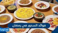 ما هي فوائد السحور في رمضان وأهمية السحور بالنسبة للصائم
