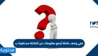 في وصف حادثة أجمع معلومات عن الحادثة مستعينا ب
