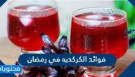 فوائد الكركديه في رمضان لترطيب الجسم وخفض ضغط الدم والكوليستروول