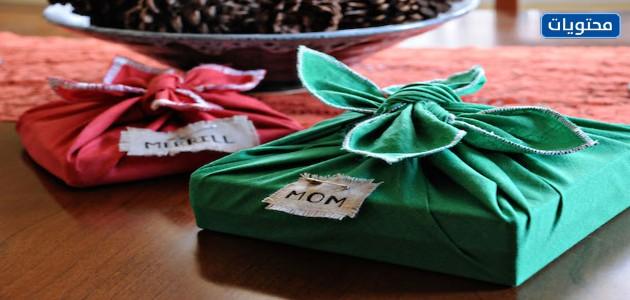 تغليف هدايا بالقماش على الطريقة اليابانية
