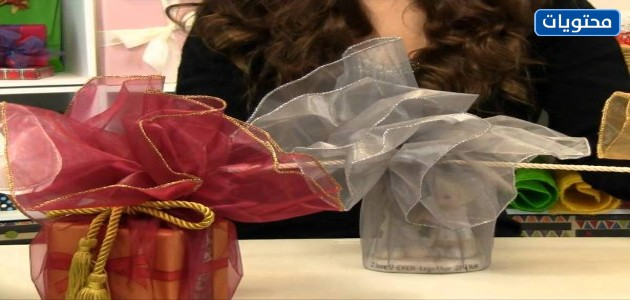 تغليف الهدايا باستخدام الشيفون