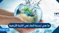 ما هي نسبة الماء في الكرة الأرضية