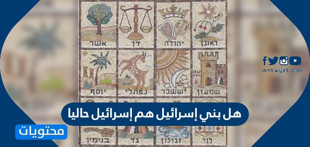 هل بني إسرائيل هم إسرائيل حاليا