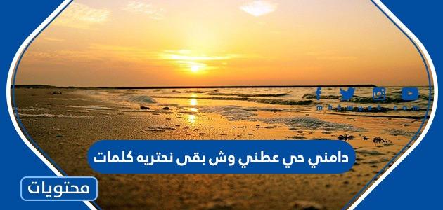 دامني حي عطني وش بقى نحتريه كلمات