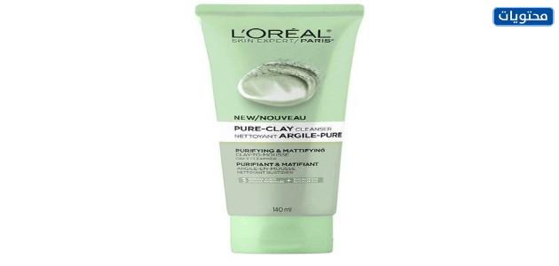 L'ORÉAL PARIS Pure-Clay Cleanser Purify-Mattify. منظف الطين النقي من لوريال باريس