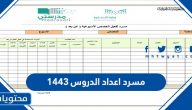 مسرد اعداد الدروس 1443